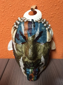 Mask with Seashells